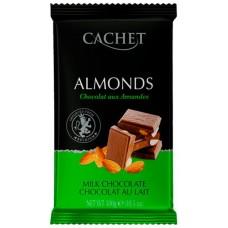 """Шоколад """"Cachet"""" Milk Chocolate with Almonds  32% Cocoa"""