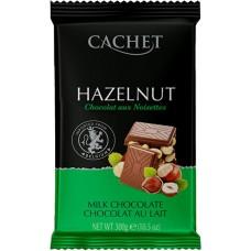 """Шоколад """"Cachet"""" Milk Chocolate with Hazelnut 32% Cocoa"""