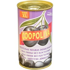 Маслины Coopoliva без косточек Черные