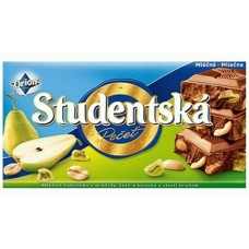 Молочный шоколад с арахисом и грушей Studentska