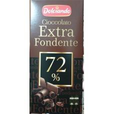 Шоколад темный 72% Extra fondente Dolciando 100г