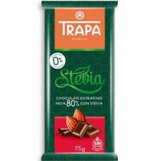 Trapa Шоколад Stevia черный 80%